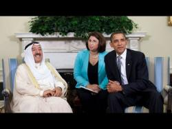 President Obama Meets with the Amir of Kuwait